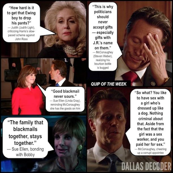 Dallas, D.T.R., Judith Light, Judith Ryland, Linda Gray, Sam McConaughey, Steven Weber, Sue Ellen Ewing