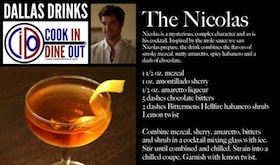 Dallas Drinks - The Nicolas featured image