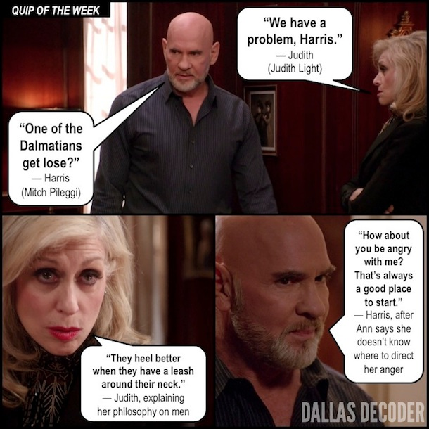 Dallas, Harris Ryland, Judith Light, Judith Ryland, Mitch Pileggi, TNT, Where There's Smoke