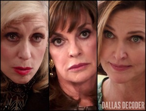 Ann Ewing, Brenda Strong, Dallas, Judith Light, Judith Ryland, Linda Gray, Sue Ellen Ewing, TNT