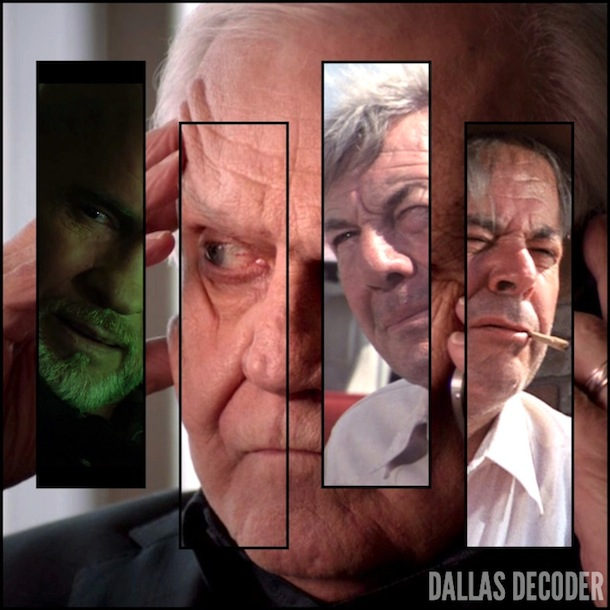 Amos Krebbs, Cliff Barnes, Dallas, David Wayne, Digger Barnes, Harris Ryland, Ken Kercheval, Mitch Pileggi, TNT, William Windom