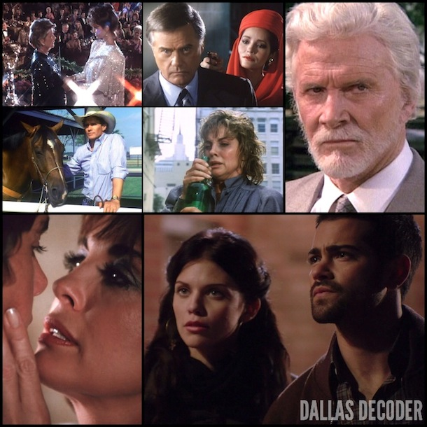 Angelica Nero, AnnaLynne McCord, Barbara Bel Geddes, Barbara Carrera, Christopher Atkins, Christopher Ewing, Dack Rambo, Dallas, Heather McCabe, Jack Ewing, Jesse Metcalfe, J.R. Ewing, Larry Hagman, Linda Gray, Miss Ellie Ewing Farlow, Pam Ewing, Peter Richards, Steve Forrest, Sue Ellen Ewing, TNT, Wes Parmalee, Victoria Principal