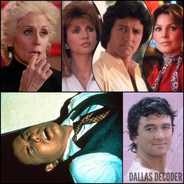 Bobby Ewing, Dallas, Jenna Wade, J.R. Ewing, Judith Light, Judith Ryland, Larry Hagman, Pam Ewing, Patrick Duffy, Priscilla Beaulieu Presley, TNT, Victoria Principal