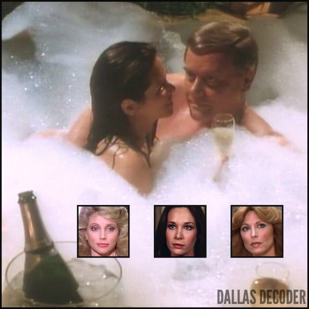 Dallas, Deborah Shelton, J.R. Ewing, Julie Grey, Kristin Shepard, Larry Hagman, Mandy Winger, Mary Crosby, Serena Wald, Stephanie Blackmore, Tina Louise, TNT