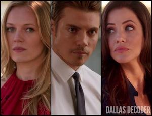Dallas, Emma Bell, Emma Ryland, John Ross Ewing, Josh Henderson, Julie Gonzalo, Pamela Rebecca Barnes Ewing, TNT