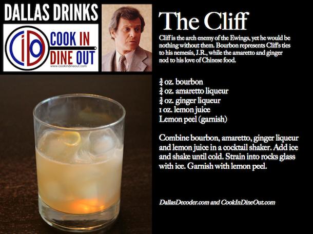 Cliff Barnes, Dallas, Dallas Drinks, Ken Kercheval