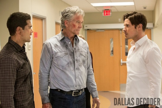 Bobby Ewing, Christopher Ewing, Dallas, Denial Anger Acceptance, Jesse Metcalfe, John Ross Ewing, Josh Henderson, Patrick Duffy, TNT