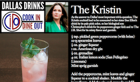 Dallas Drinks - The Kristin featured image