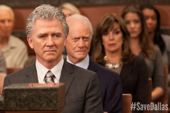 #SaveDallas, Bobby Ewing, Dallas, Julie Gonzalo, Larry Hagman, Linda Gray, Pamela Rebecca Barnes Ewing, Patrick Duffy, Save Dallas, Sue Ellen Ewing