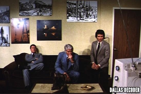 Bobby Ewing, Dallas, Jim Davis, Jock Ewing, J.R. Ewing, Larry Hagman, Patrick Duffy