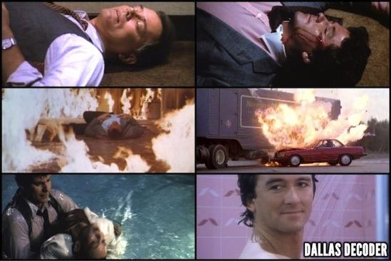 Bobby Ewing, Dallas, J.R. Ewing, Kristin Shepard, Larry Hagman, Mary Crosby, Pam Ewing, Patrick Duffy, Victoria Principal