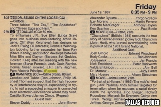 Dallas, TV Guide