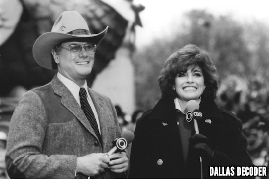 CBS, Dallas, J.R. Ewing, Larry Hagman, Linda Gray, Sue Ellen Ewing, Thanksgiving Day parade