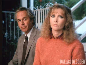 Dallas, Donna Krebbs, Ray Krebbs, Steve Kanaly, Susan Howard, True Confessions