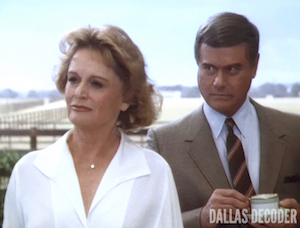 Alexis Smith, Dallas, J.R. Ewing, Lady Jessica Montfort, Larry Hagman, Strange Alliance