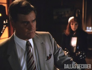 Dallas, Fools Rush In, J.R. Ewing, Katherine Wentworth, Larry Hagman, Morgan Brittany