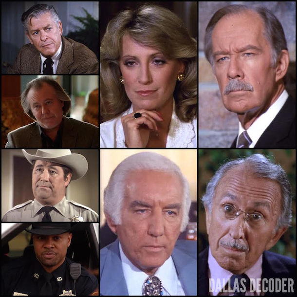 Akai Draco, Barry Corbin, Bum, Dallas, Don Starr, Fern Fitzgerald, George O. Petrie, Harry McSween, Harv Smithfield, James Brown, Jordan Lee, Kevin Page, Marilee Stone, Morgan Woodward, Punk Anderson, Sheriff Derrick, Sheriff Fenton Washburn, Steve Bum Jones, TNT