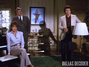 Bobby Ewing, Dallas, J.R. Ewing, Larry Hagman, Linda Gray, Patrick Duffy, Sue Ellen Ewing