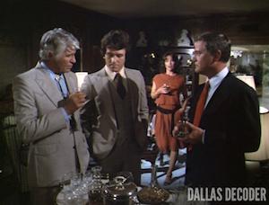 Bobby Ewing, Dallas, Jim Davis, Jock Ewing, J.R. Ewing, Larry Hagman, Linda Gray, Patrick Duffy, Sue Ellen Ewing
