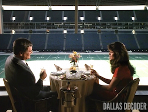 Barbecue Five, Dallas, Deborah Shelton, J.R. Ewing, Larry Hagman, Mandy Winger