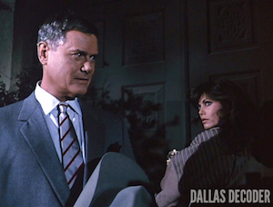 Dallas, Deborah Shelton, J.R. Ewing, Larry Hagman, Mandy Winger, Sins of the Fathers