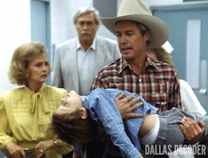 Clayton Farlow, Dallas, Donna Reed, Ewing Connection, Howard Keel, John Ross Ewing, Miss Ellie Ewing Farlow, Omri Katz, Ray Krebbs, Steve Kanaly