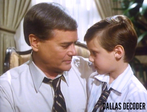 Dallas, John Ross Ewing, J.R. Ewing, Larry Hagman, Omri Katz, Those Eyes