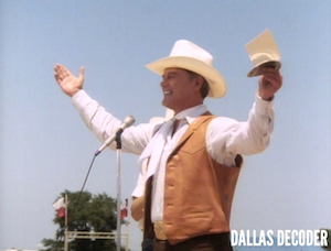 Close Encounters, Dallas, J.R. Ewing, Larry Hagman