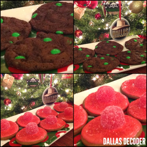 Cook In/Dine Out, Katherine's Frosted Gingerbread Hat Cookies, Pam's Emerald Mine Cookies