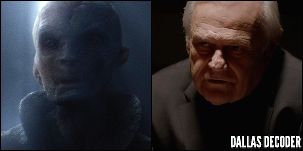 Andy Serkis, Cliff Barnes, Dallas, Snoke, Star Wars