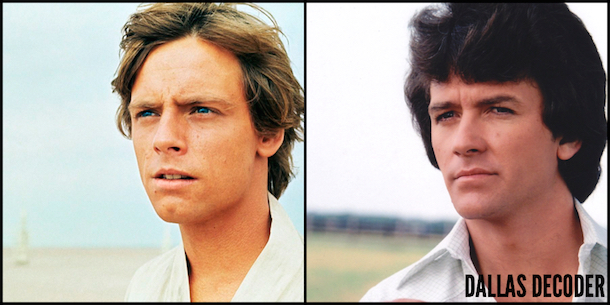 Bobby Ewing, Dallas, Luke Skywalker, Mark Hamill, Patrick Duffy, Star Wars