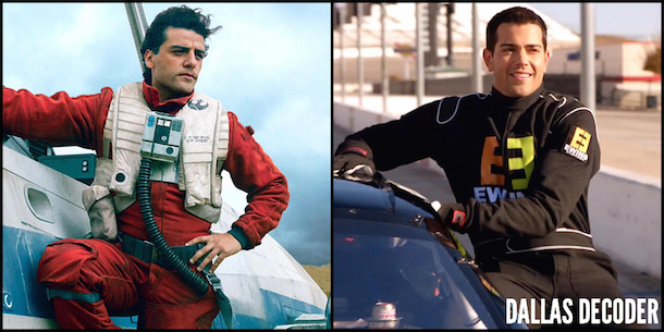 Christopher Ewing, Dallas, Jesse Metcalfe, Oscar Isaac, Poe Dameron, Star Wars