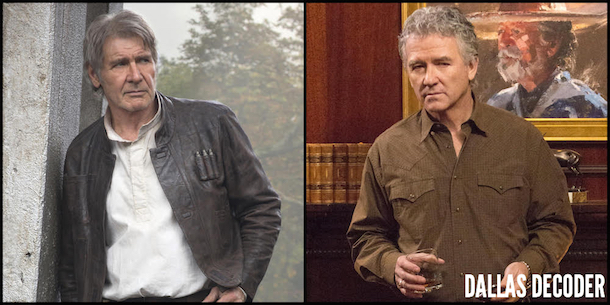 Bobby Ewing, Dallas, Han Solo, Harrison Ford, Patrick Duffy, Star Wars