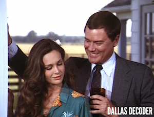 Dallas, J.R. Ewing, Kristin Shepard, Larry Hagman, Mary Crosby