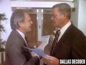 Cliff Barnes, Dallas, J.R. Ewing, Ken Kercheval, Larry Hagman