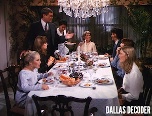 Barbara Bel Geddes, Bobby Ewing, Charlene Tilton, Dallas, Donna Krebbs, J.R. Ewing, Larry Hagman, Linda Gray, Miss Ellie Ewing, Pam Ewing, Patrick Duffy, Sue Ellen Ewing, Susan Howard, Victoria Principal